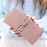 Stylish Hollow Out Long Wallet Pu Leather Card Holder Purse For Women