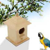 Oiseau de compagnie en bois sauvage perruche mangeoire oiseau suspendu outil d'alimentation pour la décoration de jardin