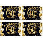 Gold Schwarz Geburtstag Foto Hintergrund 30/40/50 / 60th 120x80cm Geburtstag Fotografie Hintergrund Party Dekor Requisiten