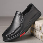 Men Round Toe Classic Business Casual Leather Shoes