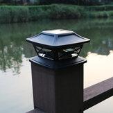 Lâmpada de coluna solar para exteriores luz de decoração de jardim lâmpada de cerca doméstica luz poste