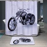 180x180cm wasserdichte kühle Motorrad Polyester Duschvorhang Badezimmer Dekor mit 12 Haken