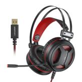 Novo Langsdom G2 USB 7.1 Gaming Headset RGB Light Headphone com microfone com cancelamento de ruído para laptop PC PS4 Xbox