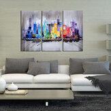 3 stuks moderne ingelijste canvas kunst aan de muur met de hand geschilderd schilderij 60 * 30cm kunst schilderij benodigdheden