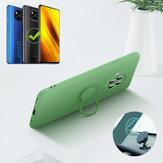 Bakeey POCO X3 NFC Kılıf için Halka Tutuculu Lens Koruyucu Soft Sıvı Silikon Kauçuk Koruyucu Kılıf