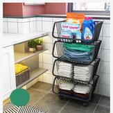 Tragbare Küchenablage Mehrschichtige tragbare Aufbewahrung Haushaltsbad Anordnung für Obst erhält