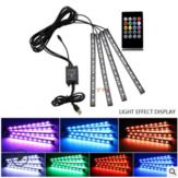 LED-Auto-Fußlicht-Umgebungslampe USB-Funkfernbedienung Musiksteuerung Kfz-Inneneinrichtung