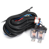 Car 12V H4 4 Lamp Bulb Headlight Wire Wiring Harness Ceramic Relay Socket Adapter