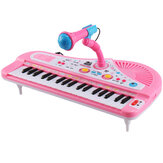 37 Key Kids Elektroniczna klawiatura Piano Musical Toy with Microphone for Children's Toys