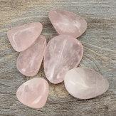 6pcs rosa heilende Kristallquarz poliert für Dekoration Gesundheit