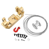 Brass Front Servo Stand Bracket with 25T Winch Wheel Kit for RC Crawler 1/10 TRX4 Spare Parts