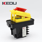 KEDU JD3 230/400V 16/12A 10 Pin Waterproof Electromagnetic Push Button Switch
