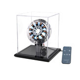 Basic Version 1:1 Acrylic Arc Reactor DIY Model MK2 LED Light Mark Chest Tony Heart Lamp Light With Display Stand Cover Remote Control