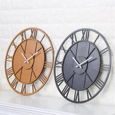 Modern Wall Clock Round Silent Movement Skeleton Roman Numeral Home Minimalist Room Clock