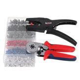 Raitool Professional Crimper Plier Wire Cutter Stripper 1500Pcs Electrical Crimp Terminals Kits