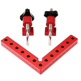 Drillpro Woodworking Precision Clamping Square L-Shaped Auxiliary Fixture Splicing Board Positioning Panel Fixed Clip Carpenter Square Ruler Woodworking Tool