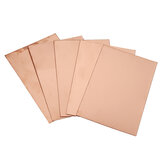 5Pcs 100 * 150 * 0.4mm Double-sided Copper-clad Board