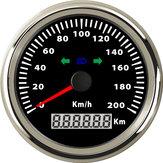 Compteur de vitesse kilométrique avec impulsion de voiture avec feux de route et fonction de clignotant
