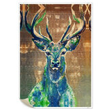 1 Piece Wall Decorative Painting Deer Canvas Print Art Pictures Frameless Wall Hanging Decorations for Home Office