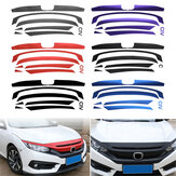 Voorbumper Grille Sticker Decal Fit Honda Civic 10e 2016-17 Grilldecoratie