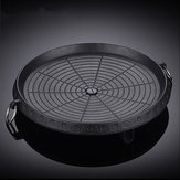 34cm BBQ Grill Non-stick Pan Marble Stone For Portable Gas Stove Cookware