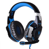KOTION EACH G2000 Over Orecchio Cuffie con gaming per basso stereo Auricolare Headbrand con microfono LED per PC Game