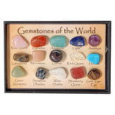 Рок-коллекция Mix Gems Crystals Natural Teaching Mineral Ore Specimens Decoration Коробка