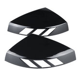 1 Pair Glossy Black Rear View Mirror Cap Cover Case Add on Side Mirror Car Modification For Audi A3 S3 RS3 All Models 2014-2020