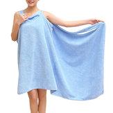 Honana BX-949 Zomer Microfiber Soft Strand Able Wear spa-badjas Pluche Zeer absorberende badhanddoekrok