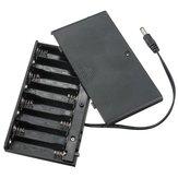 10 قطع دي 12 فولت 8 × آ بطارية حامل حالة مربع مع يؤدي التبديل