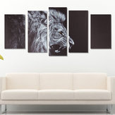 5Pcs No Frame Canvas Prints Lion Animal Paintings Home Wall Hanging Art Decorations