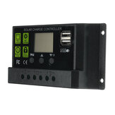 Upgrade 30A 12V/24V LCD Display PWM Solar Panel Charge Controller