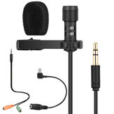 Yanmai R955 Lavalier doppio condensatore omnidirezionale Microfono Condensatore risvolto clip Microfono per telefoni Gopro fotografica