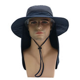 Outdoor Big Hat With Collapsible Cloak  Shade Sunlight Anti-UV Collapsible Multipurpose