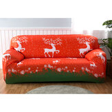 2/3/4 Seaters Christmas Sofa Cover Elastic Elk Chair Seat Protector Stretch Couch Case Slipcover Home Office Furniture Decorations