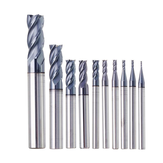 Drillpro 1-10mm HRC55 TiAIN 4 Fluiten End Mill Cutter Tungsten Carbide Frees CNC Tool
