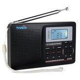 TIVDIOV-111MW/FM/ SW estéreo Radio 9KHz World Banda sintonización digital Radio LCD Pantalla al aire libre bolsillo Radio onda corta Radio alarma Reloj Batería operado Radio para viajar