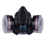 Anti Toz Gaz Maskesi Güvenlik Göz Gözlüğü Koruyucu Solunum Yarım Yüz Maske