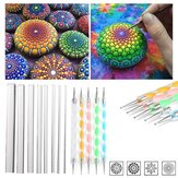 13Pcs Mandala Dotting Tools Set Kit de pintura em rocha Unhas Art Pen Paint Stencil