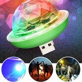 Mini USB RGB LED Disco Tahap Pencahayaan Bola Colorful Ambient Lamp Party Decor