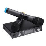 Portable UHF 2 Channel Wireless Microphone 500-599 Mhz Karaoke Wedding Evening Party DJ EU UK US Plug Home Theatre System