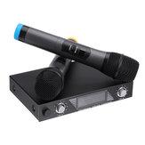 Portatile UHF 2 canali senza fili Microfono 500-599 Mhz Karaoke Wedding Party Party DJ EU UK US Plug Sistema Home Theater