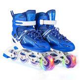 Patins Inline Ajustáveis Patins de Velocidade Tênis Profissionais Rolete Lâminas com 1 Roda Piscante para Crianças Adolescentes Adulto