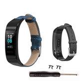 Bakeey Denim Leather Watch Band na Huawei Band 3/3 pro Smart Watch