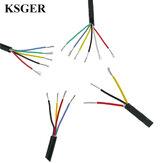 KSGER Przewód z drutu silikonowego Konserwa z miedzi T12 Osłona lutownicy z wysokotemperaturową Soft Kurtka
