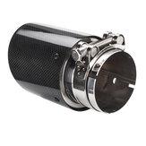 Auto-Auspuffspitze Hochglanzschwarzer Carbon-Endrohrschalldämpfer Universal 80mm 101mm