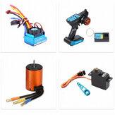 Wltoys 144001 124018 124019 Carro RC atualizado sem escova 3650 4300KV Motor 120A ESC 21G Servo TX RX Conjunto de peças