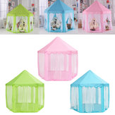 Princesa portátil Castle Play Barraca Atividade Fairy House Fun Play House Toy 55.1x55.1x53.1 Polegada
