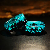 Time Gem Epoxy Ring DIY handgemaakte inkt schilderij Magic Forest Resin Ring Unisex