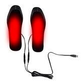 Palmilhas de aquecimento elétrico USB calçado meias pé Aquecedor almofada de aquecimento de inverno quente